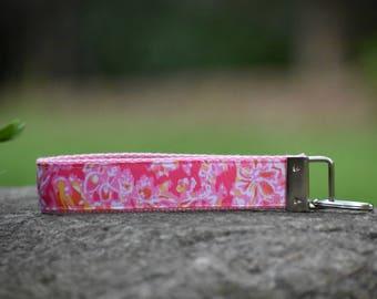 Pink Wristlet Key Fob
