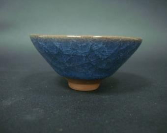 Very Fine Rare Chinese Blue Glazes Porcelain TeaBowl Cup QA444