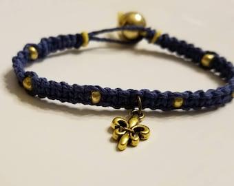 Fluer De Lis Charm Bracelet