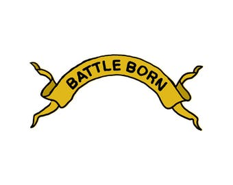 Battle Born Ribbon - Temporary Tattoo