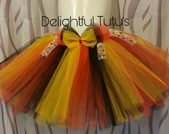 Red black and Yellow tutu skirt