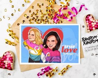 OUAT, SwanQueen, Emma Regina, Fandom Postcards, Tumblr, postcards, cool postcards