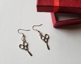 Scissor earrings, Beauty salon earrings, Salon earrings, Barber earrings, Hair stylist earrings.