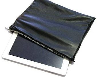 Black Faux Leather Clutch Bag