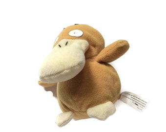 Original Psyduck Plush Toy, Pokemon, Gotta Catch Em All, 1990s Collectible Toy