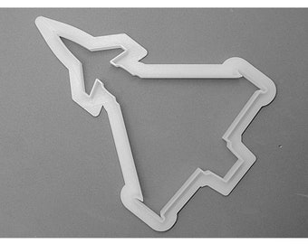 Eurofighter Typhoon | Cookie pastry cutter, Fighter Jet, for use with icing fondant marzipan thin pastry or play dough