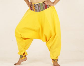 Harem pants yellow yoga pant trouser NEPALI pocket pyjamas