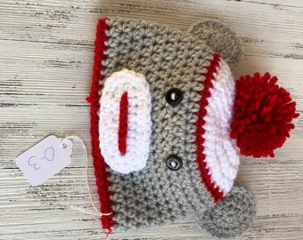 Sock monkey hat 0-3