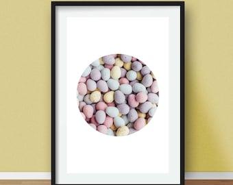 Easter Decor, Modern Easter Poster, Easter Photography Print, Ester Photo, Easter Egg, Easter Decoration, Easter Egg Photo, Digital Print