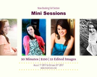 Mini Photography Session Templates