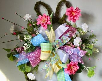 Spring Bunny Grapevine Wreath
