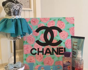 Chanel floral canvas