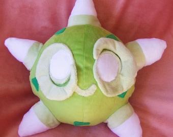Green Minior core Pokemon plush