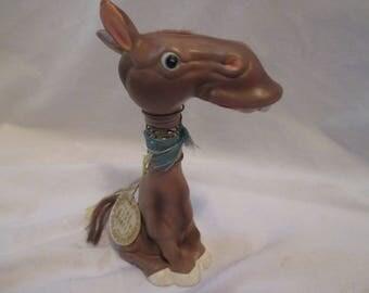 SUPEr RaRe* LUGENES Japan OZARK Donkey BOBBLE Head Nodder Figurine Collectible Democrat