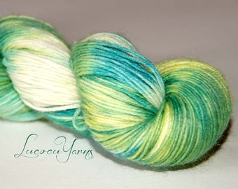 "Hand-dyed sock yarn 4 x 100 g ""Grasshopper"""