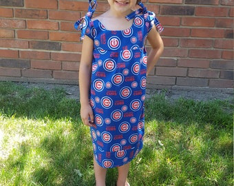 Cubs summer dress and headband