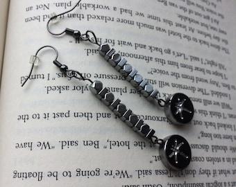 Metallic Dragonfly Earrings, Silver Earrings, Metallic earrings, Dragonfly Earrings