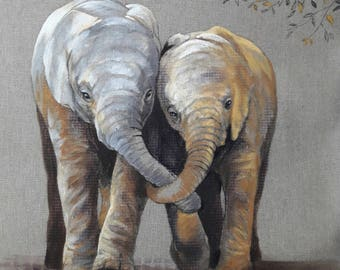 ELEPHANT.10. 40X40cm