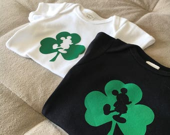 Mickey Mouse St. Patrick's Day - kids (youth) shirt, toddler shirt or baby onesie