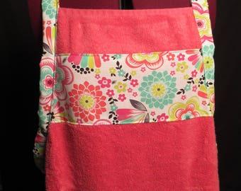 Pink Flower Bath Towel Apron