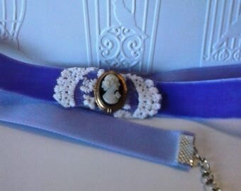 Ultra Violet Cameo Choker-Prom-Wedding-Cos Play-Necklace