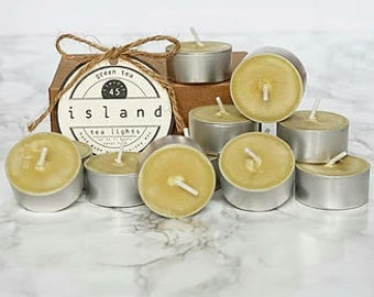 green tea scented soy tea lights