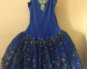 Royal Blue Ballet Costume