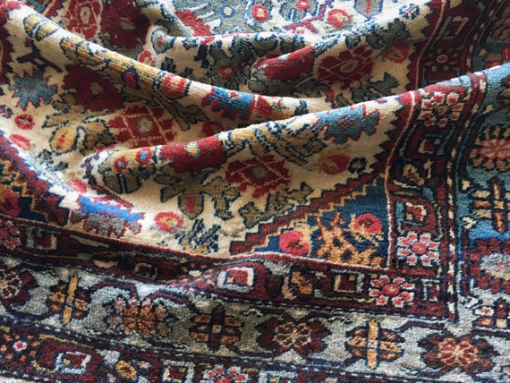 Vintage Handwoven Wool Rug | Vintage Home | Antique Decor | Textile | Free Domestic Shipping