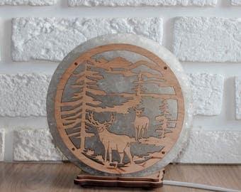 ArtSalt Salt lamp Hand Carved Natural Salt Rock Lamps(7-8 lbs)