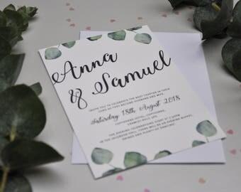 Wedding Invite - The Eucalyptus Range
