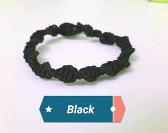Spiral hemp bracelet