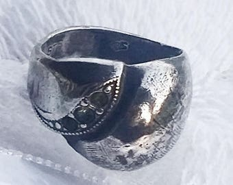 Vintage Pinky Sterling Silver Ring  - 1980s - Excellent Condition - Vintage