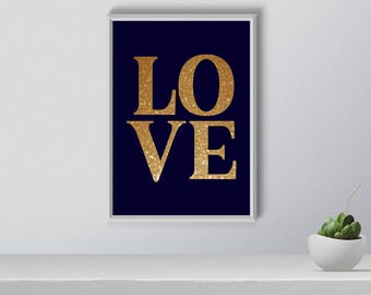 LOVE Wall Art, Wall Art, Digital Print, Home Decor, Gift for Her