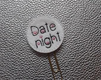 Lovely Date Night Planner Bookmark. Planner Feltie Clip.  Paperclip.  Felt Clip. Planner Gifts.  Stationery.  UK SELLER!