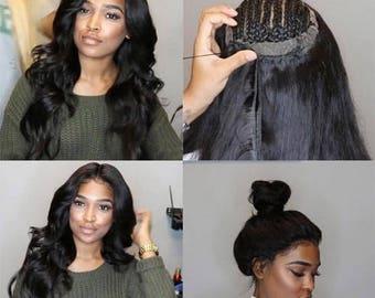 Full Lace Closure Peruvian Malaysian Virgin Hair