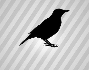 Bird Meadowlark Silhouette Birds - Svg Dxf Eps Silhouette Rld RDWorks Pdf Png AI Files Digital Cut Vector File Svg File Cricut Laser Cut