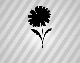 daisy Silhouette - Svg Dxf Eps Silhouette Rld RDWorks Pdf Png AI Files Digital Cut Vector File Svg File Cricut Laser Cut