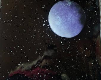 Purple Single Moon