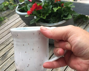 Coffee cup white with a White stoneware