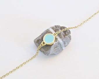 Chic ethnic Abigaël pastel blue bracelet
