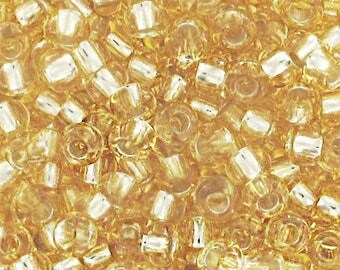 Beads gold silver lined 2.5 mm 9/0 - 10 gram bag