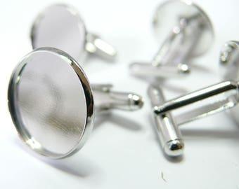 6 supports cufflinks 18mm