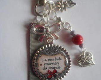 """Bag charm, door keys/MOM / """"the best MOM in the world"""" / gift/mothers day / thanks/Christmas/birthday"""