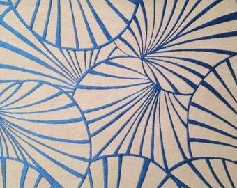 Art deco water lilies Thévenon fabric