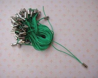 Set of 30 ties phone strap dark green