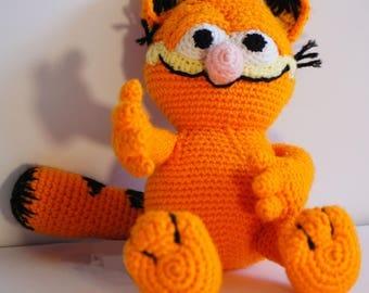 Orange cat with black stripes