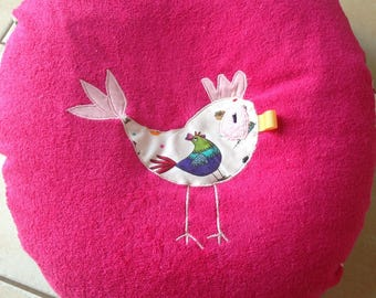 Pregnant or nursing pillow cover. Model * chicken * fushcia pink, pale pink, beige and multicolor