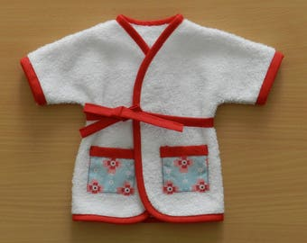 Garment, bathrobe Terry compatible doll Corolla 36 cm