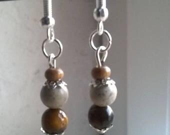 Tiger eye bead earrings