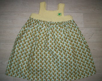 Children dress girls dress pineapple